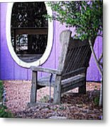 Picture Perfect Garden Bench Metal Print