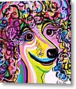 Picture Perfect Poodle  Metal Print by Eloise Schneider