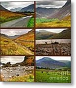 Autumn Picture Window Of The Lake District Metal Print