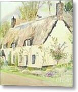 Picturesque Dunster Cottage Metal Print