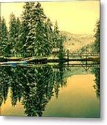Picturesque Norway Landscape Metal Print