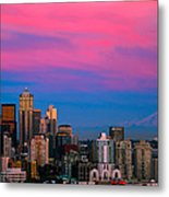 Picturesque Seattle Metal Print