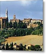 Pienza A Hill Town In Tuscany Metal Print