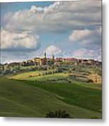 Pienza In The Afternoon Panorama Metal Print