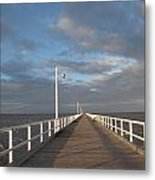 Pier And Shadows Metal Print