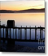 Pier At Bodega Bay California Metal Print