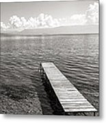 Pier At Lake Ohrid Metal Print