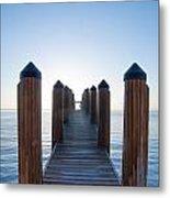 Pier By Sea Metal Print