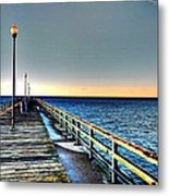 Pier - Chesapeake Bay Bridge #1 Metal Print
