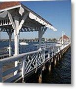 Clock Tower Pier Metal Print