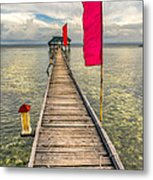 Pier Flags Metal Print