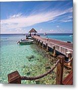 Pier Into Blue. Resort Vivanta By Taj Metal Print