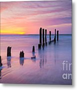 Pier Into The Past 16x9 Metal Print