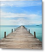 Pier On Koh Samui Island In Thailand Metal Print