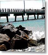 Pier Poster Metal Print by Sharon McLain