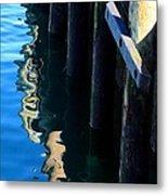 Pier Reflection Metal Print