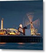 Pier Resplendant Metal Print by Jacqui Collett