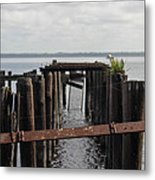 Pier To Nowhere Metal Print
