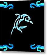 Pierced Dolphin Metal Print