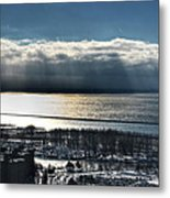 Piercing Cold Rays Upon The Waters Winter 2013 Metal Print