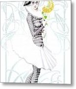 Pierrette In Love Metal Print