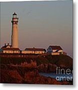 Pigeon Point Lighthouse At Sunset Metal Print