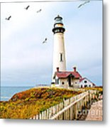Pigeon Point Lighthouse Metal Print by Artist and Photographer Laura Wrede
