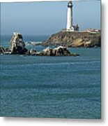 Pigeon Point Lighthouse Near Half Moon Bay-san Francisco Metal Print