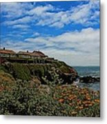 Pigeon Point Lighthouse Painted Metal Print