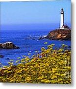 Pigeon Point Lighthouse Panoramic Metal Print