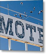 Pigeon Roost Motel Sign Metal Print