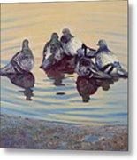 Pigeon Talk Metal Print