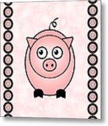Piggy - Animals - Art For Kids Metal Print