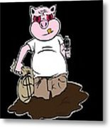 Piggy Bank Metal Print by Andre Carrion