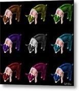 Piglet Pop Art - 0878 Fs - M - Bb Metal Print