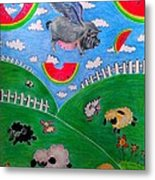 Pigs Can't Fly Metal Print