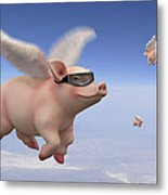 Pigs Fly 1 Metal Print by Mike McGlothlen