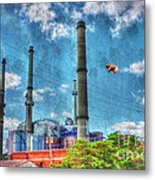 Pigs On The Wing Revisited Metal Print