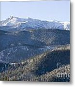 Pike National Forest In Snow Metal Print