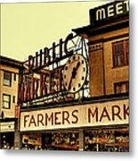 Pike Place Market - Seattle Washington Metal Print