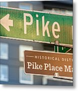 Pike Place Market Sign Metal Print