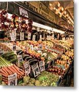 Pike Place Veggies Metal Print