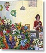 Pikes' Flower Market Metal Print