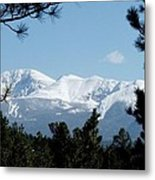 Pikes Peak After A Snowstorm Metal Print