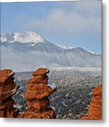 Pikes Peak In The Clouds Metal Print