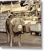 Pikes Peak Market Pig Metal Print