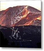 Pikes Peak Sunrise Close-up Metal Print