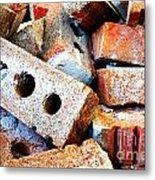 Pile Of Bricks Metal Print