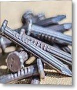 Pile Of Nails Macro Metal Print