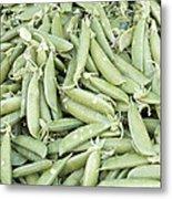 Pile Of Sugar Peas Background Metal Print